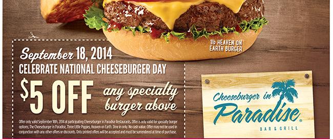 Cheeseburger in Paradise: Celebrate National Cheeseburger Day!